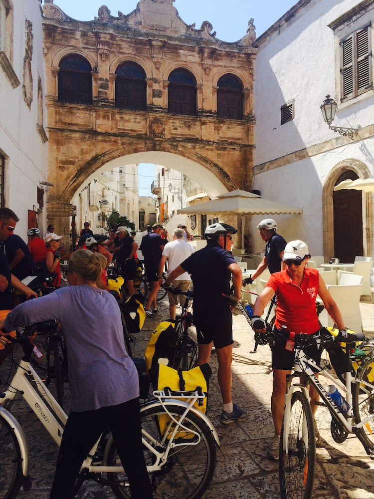 Historic centre of Ostuni, cycling in Apulia